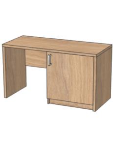 Стол с нишей под минибар 1200х520х750мм (ШхГхВ), размер ниши под минибар 564х475х638мм / возможность установки защитного поддона от протекания конденсата холодильника