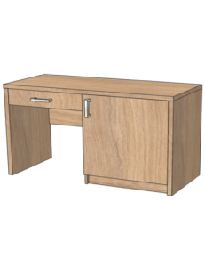 Стол с нишей под минибар и ящиком 1200х520х750мм (ШхГхВ),размер ниши под минибар 564х475х638мм / возможность установки защитного поддона от протекания конденсата холодильника