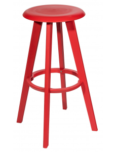 Стул барный с функцией вращения, красный