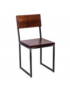 Стул лофт Квадрум с деревянным сиденьем и спинкой