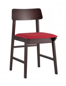 Стул обеденный ODEN , мягкое сидение, красное