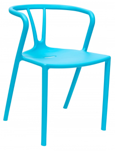 Стул пластиковый SUMMER, голубой