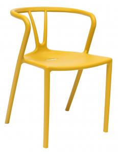 Стул пластиковый SUMMER, желтый
