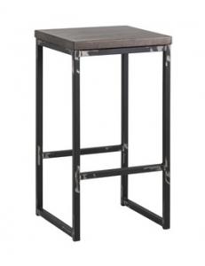 Стул барный лофт Симпл с деревянным сиденьем