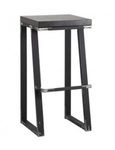 Стул барный лофт Терракс с деревянным сиденьем