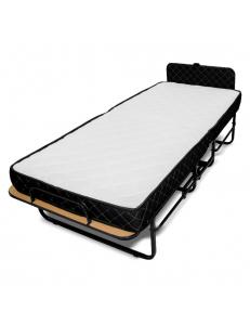 Кровать раскладная с пружинным матрасом 12 см и изголовьем, Отель-2