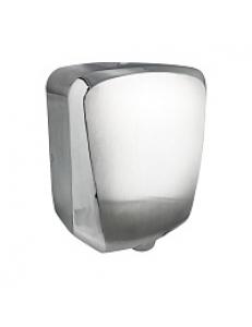 Сушилка для  рук скоростная , антивандальная  ,корпус из нержавеющей стали, матовая с  хромированными вставками  1200W  (6952)