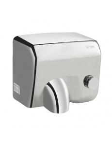 Сушилка для рук, скоростная, с поворотным соплом, антивандальная корпус из нержавеющей стали, матовая 2300W, код: 6956