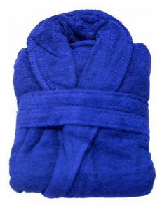 Халат махровый синий Туркмения плотность 380гр