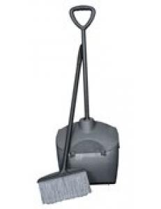 Совок-ловушка с крышкой и ручкой, пластик серый