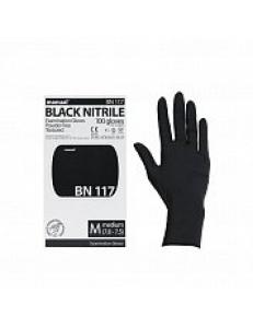 Перчатки нитриловые ЧЕРНЫЕ MANUAL смотровые, черные 1уп/50пар