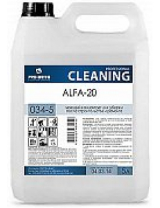Alfa -20 (Альфа-20)  5л, моющее средство для после строительства и ремонта, концентрат