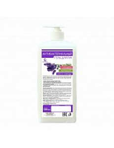 Антибактериальный гель для рук 1000 мл Сенсация с глицерином, витамином Е и маслом лаванды