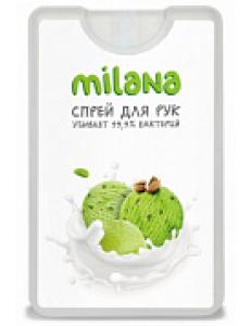 Средство космет для ухода за кожей рук ТМ Санитель спрей-Milana-фисташковое морожен 20мл GRASS