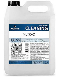 Nutrax (Нутракс) 5л, Низкопенный моющий концентрат для уборки твёрдых поверхностей в т.ч. полов