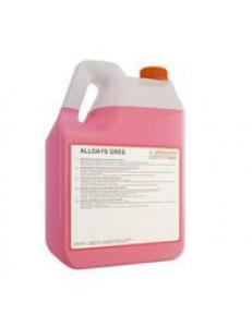 ALLDAYS GRES 5л Оллдейс Грес Кислотное моющее средство с высокой обезжиривающей способностью, специально разработанное для ежедневной уборки полов из керамической плитки. Идеально подходит как для глянцевой, так и для матовой плитки.
