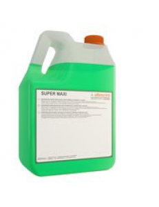 SUPERMAXI 5л  Супермакси Моющее средство для мытья любых твердых  поверхностей, таких как кафель, мрамор, гранит, линолеум, ламинат, а также для ежедневного ухода за полами, покрытыми полимерными акриловыми лаками с ароматом сосны и эвкалипта.