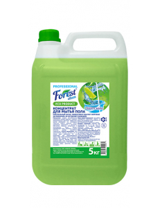 "FOREST clean   Концентрат для мытья пола ""Лайм и мята"" нейтральный запах 5 кг Канистра"