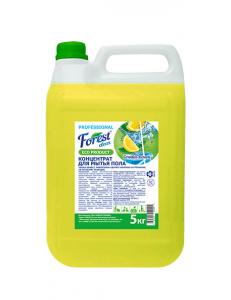 """FOREST clean   Концентрат для мытья пола """"Сочный лимон"""" AROMA 5 кг Канистра"""
