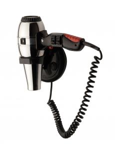 Фен HOTELline настенный с антивандальной защитой 1800 W черный/металлик, 02057, шт