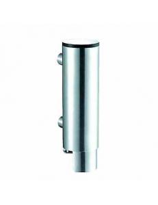 диспенсер для мыла цилиндрический из нержавющей стали глянцевый 300 мл.
