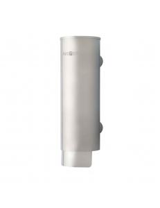 диспенсер для мыла цилиндрический из нержавющей стали матвоый, 300 мл.