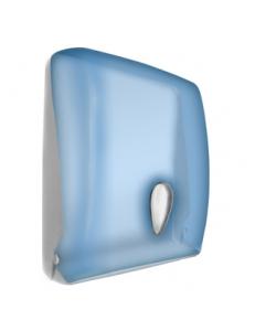 Диспенсер для бумажных полотенец пластмассовый синий