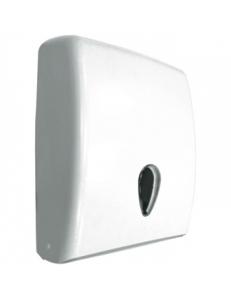 Диспенсер для бумажных полотенец пластмассовый белый