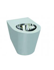 Туалет антивандальный из нержавеющей стали без сливного бака глянцевый 390х355х540