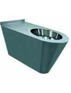 Туалет из нержавеющей стали без сливного бака глянцевый 390х355х640