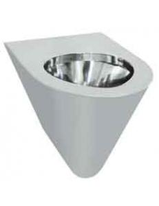 Туалет настенный антивандальный из нержавеющей стали