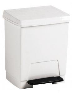 Контейнер для мусора пластиковый белый 23 л.