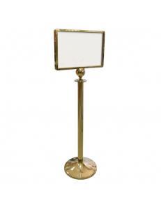 Информационная стойка для формата A3 бумаги золото